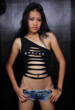 Asian Teen in Shorts