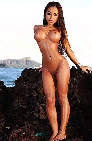 Asian on the Beach